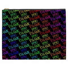 Thank You Font Colorful Word Color Cosmetic Bag (xxxl)