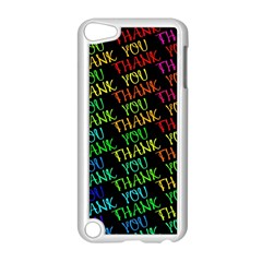 Thank You Font Colorful Word Color Apple Ipod Touch 5 Case (white)
