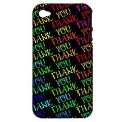 Thank You Font Colorful Word Color Apple Iphone 4/4s Hardshell Case (pc+silicone)