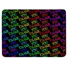 Thank You Font Colorful Word Color Samsung Galaxy Tab 7  P1000 Flip Case
