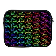Thank You Font Colorful Word Color Apple Ipad 2/3/4 Zipper Cases