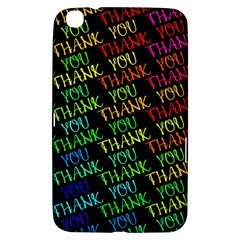 Thank You Font Colorful Word Color Samsung Galaxy Tab 3 (8 ) T3100 Hardshell Case