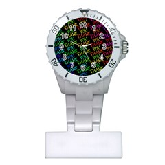Thank You Font Colorful Word Color Plastic Nurses Watch