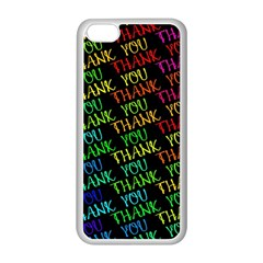 Thank You Font Colorful Word Color Apple Iphone 5c Seamless Case (white)