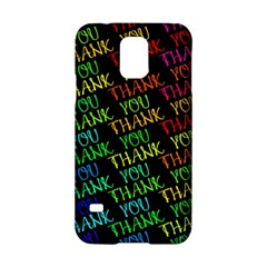 Thank You Font Colorful Word Color Samsung Galaxy S5 Hardshell Case