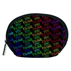 Thank You Font Colorful Word Color Accessory Pouches (medium)
