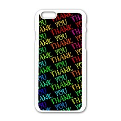 Thank You Font Colorful Word Color Apple Iphone 6/6s White Enamel Case