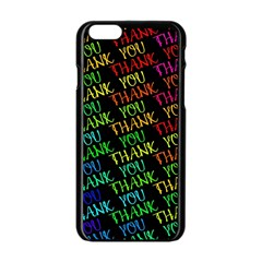 Thank You Font Colorful Word Color Apple Iphone 6/6s Black Enamel Case