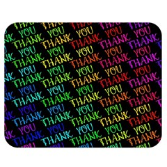 Thank You Font Colorful Word Color Double Sided Flano Blanket (medium)