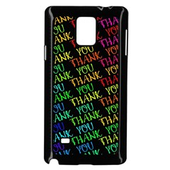 Thank You Font Colorful Word Color Samsung Galaxy Note 4 Case (black)