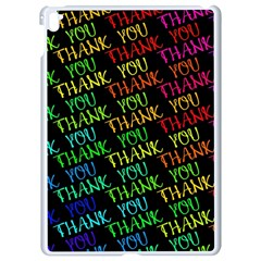 Thank You Font Colorful Word Color Apple Ipad Pro 9 7   White Seamless Case