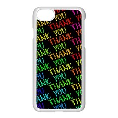 Thank You Font Colorful Word Color Apple Iphone 8 Seamless Case (white)