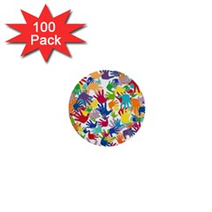 Volunteers Hands Voluntary Wrap 1  Mini Buttons (100 Pack)