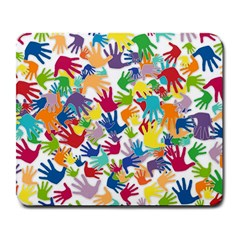 Volunteers Hands Voluntary Wrap Large Mousepads
