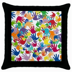 Volunteers Hands Voluntary Wrap Throw Pillow Case (black)