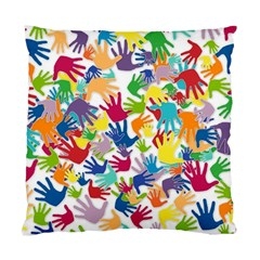 Volunteers Hands Voluntary Wrap Standard Cushion Case (two Sides)