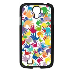 Volunteers Hands Voluntary Wrap Samsung Galaxy S4 I9500/ I9505 Case (black)