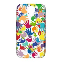 Volunteers Hands Voluntary Wrap Samsung Galaxy S4 Classic Hardshell Case (pc+silicone)