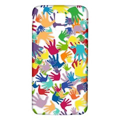Volunteers Hands Voluntary Wrap Samsung Galaxy S5 Back Case (white)