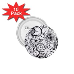 Time Clock Watches Time Of 1 75  Buttons (10 Pack)
