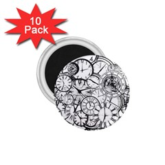 Time Clock Watches Time Of 1 75  Magnets (10 Pack)