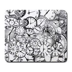 Time Clock Watches Time Of Large Mousepads