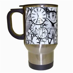 Time Clock Watches Time Of Travel Mugs (white)