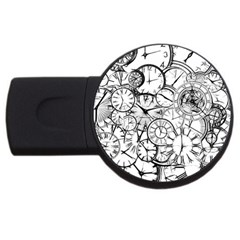 Time Clock Watches Time Of Usb Flash Drive Round (4 Gb)