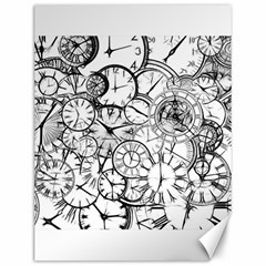 Time Clock Watches Time Of Canvas 12  X 16