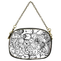 Time Clock Watches Time Of Chain Purses (two Sides)