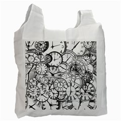 Time Clock Watches Time Of Recycle Bag (one Side)