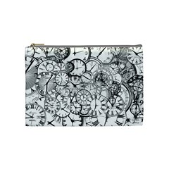 Time Clock Watches Time Of Cosmetic Bag (medium)