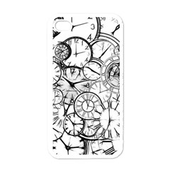 Time Clock Watches Time Of Apple Iphone 4 Case (white)
