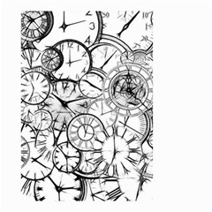 Time Clock Watches Time Of Small Garden Flag (two Sides)