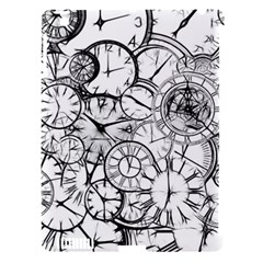 Time Clock Watches Time Of Apple Ipad 3/4 Hardshell Case (compatible With Smart Cover)