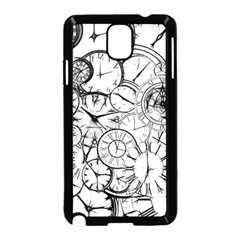 Time Clock Watches Time Of Samsung Galaxy Note 3 Neo Hardshell Case (black)