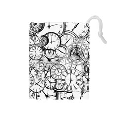 Time Clock Watches Time Of Drawstring Pouches (medium)