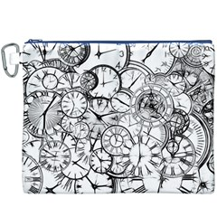 Time Clock Watches Time Of Canvas Cosmetic Bag (xxxl)