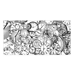 Time Clock Watches Time Of Satin Shawl