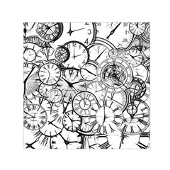 Time Clock Watches Time Of Small Satin Scarf (square)