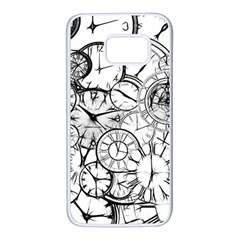 Time Clock Watches Time Of Samsung Galaxy S7 White Seamless Case
