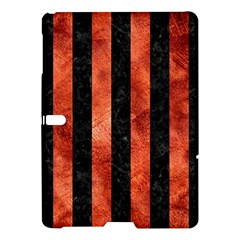 Stripes1 Black Marble & Copper Paint Samsung Galaxy Tab S (10 5 ) Hardshell Case