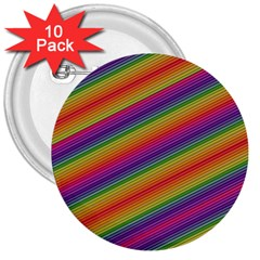 Spectrum Psychedelic Green 3  Buttons (10 Pack)