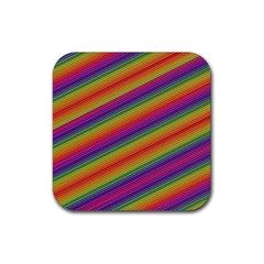Spectrum Psychedelic Green Rubber Coaster (square)