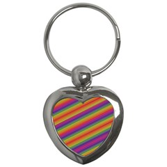 Spectrum Psychedelic Green Key Chains (heart)
