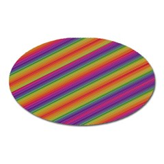 Spectrum Psychedelic Green Oval Magnet