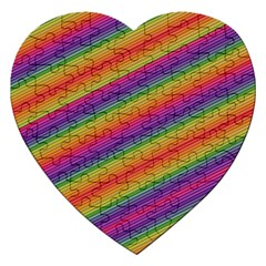 Spectrum Psychedelic Green Jigsaw Puzzle (heart)