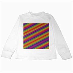 Spectrum Psychedelic Green Kids Long Sleeve T Shirts