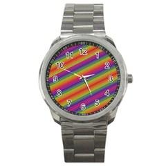 Spectrum Psychedelic Green Sport Metal Watch