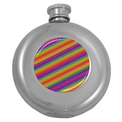 Spectrum Psychedelic Green Round Hip Flask (5 Oz)